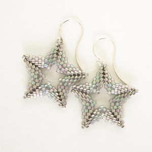 Beaded Open Star Earrings
