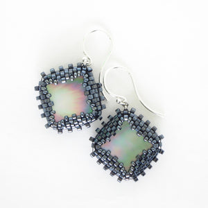 Mother of Pearl Bezeled Earrings