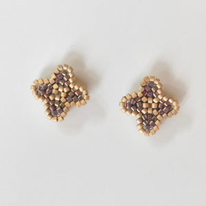Quatrefoil Beaded Post Earrings