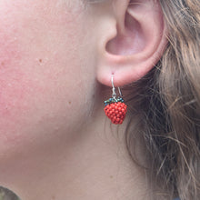 Load image into Gallery viewer, Black/Red Berry Earrings
