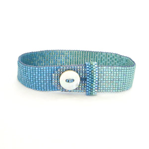 Extra Narrow Ombré Button Bracelet