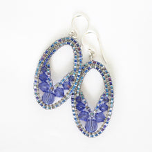 Load image into Gallery viewer, Mini Swarovski Ellipse Earrings