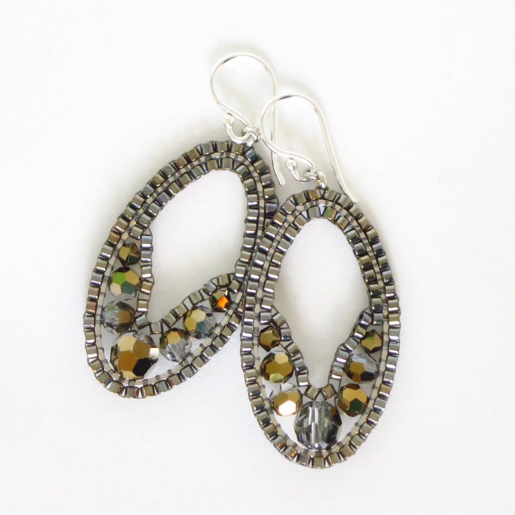 Mini Swarovski Ellipse Earrings