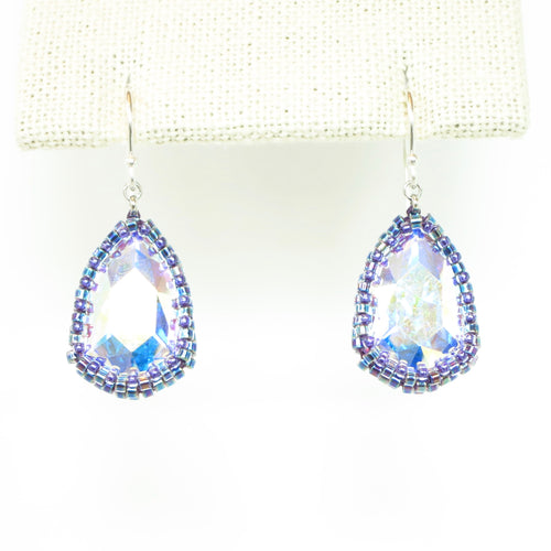 Reflective Large Teardrop Earrings