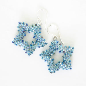 Beaded Star Earrings--3 colors