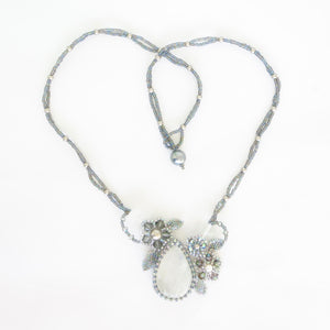 Moonstone Flower Necklace