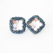 Load image into Gallery viewer, Swarovski Checkerboard Post Earrings