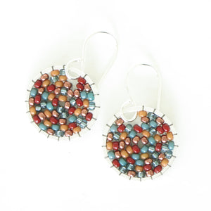 Beaded Orb Earrings