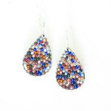 Load image into Gallery viewer, Beaded Teardrop Earrings