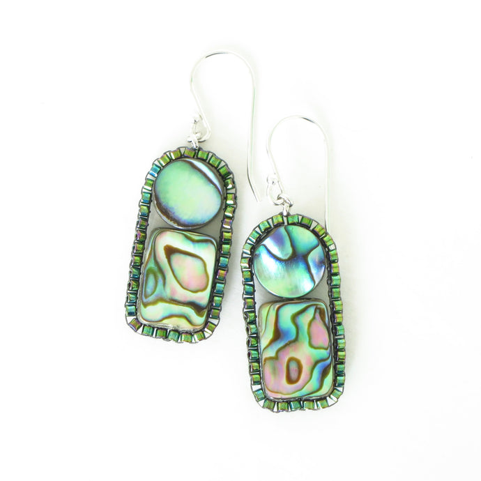 Paua Shell Frame Earrings