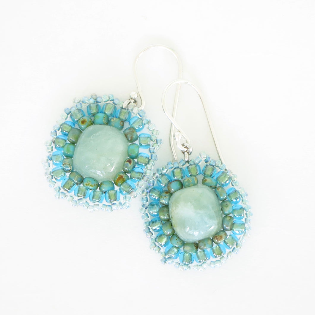 Aquamarine Pendant Earrings