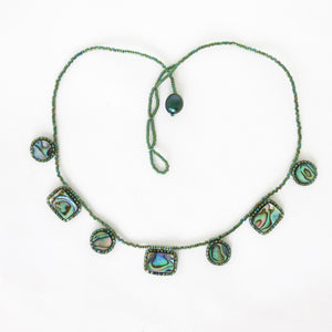 Paua Shell Drops Necklace