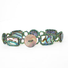 Load image into Gallery viewer, Paua Shell Links Bracelet