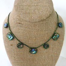 Load image into Gallery viewer, Paua Shell Drops Necklace