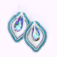 Load image into Gallery viewer, Bali Beach Babe Earrings with Swarovski Crystals
