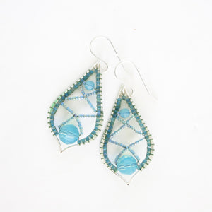 Wrapped Arabesque Earrings with Swarovski Crystals