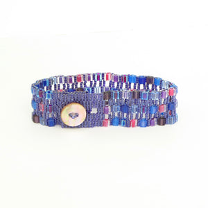 Watercolor Cubes Button Bracelet