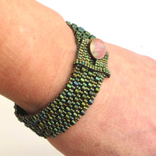 Load image into Gallery viewer, Button Bracelet with Two-Size Cylinder Beads