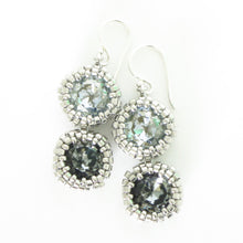 Load image into Gallery viewer, Double Drop Swarovski Bezeled Earrings