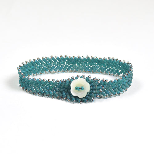Feather Button Bracelet