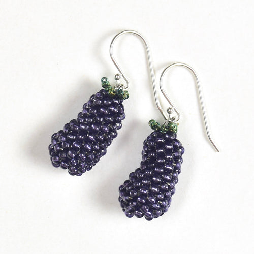 Eggplant Earrings