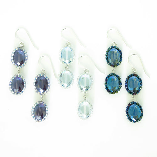 Elegant Ovals Double Drop Earrings