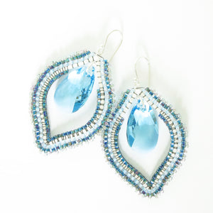 Bali Beach Babe Earrings with Swarovski Crystals