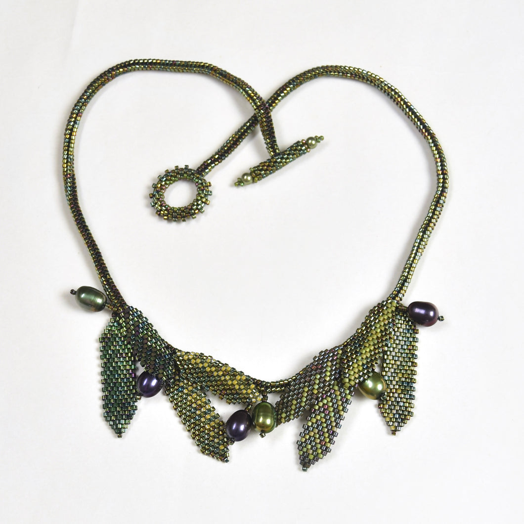 Olive Branch Necklace and Earrings