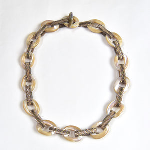 Mother of Pearl Links Necklace