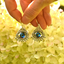 Load image into Gallery viewer, Swarovski Crystal Evil Eye Charm Earrings