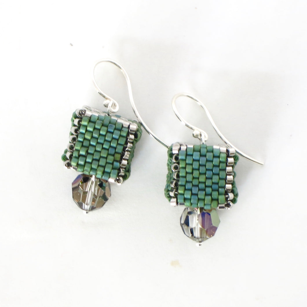 Beaded Cube Earrings