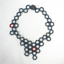 Load image into Gallery viewer, Metallic Honeycomb Necklace