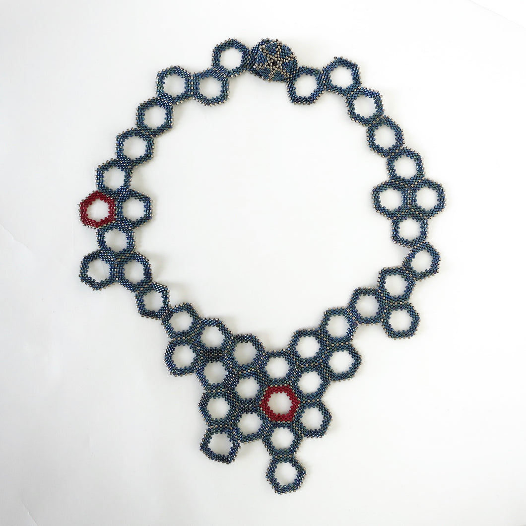 Metallic Honeycomb Necklace