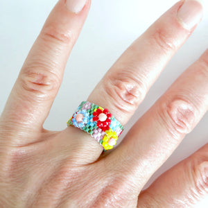Raised Flower Ring