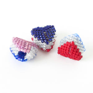 Mini Reversible Heart Charm Pattern Only