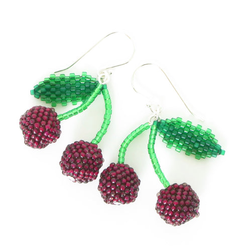 Double Cherry Earrings