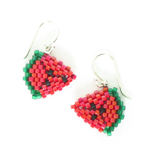Watermelon Wedge Earrings