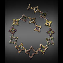 Load image into Gallery viewer, Diamond Quatrefoil Necklace and Earrings