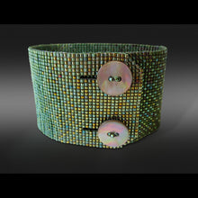 Load image into Gallery viewer, Wide Ombré Button Bracelet
