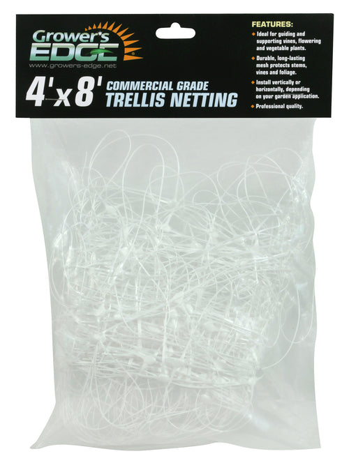 Commercial Grade Trellis Netting 4 ft x 8 ft - Grower's Edge
