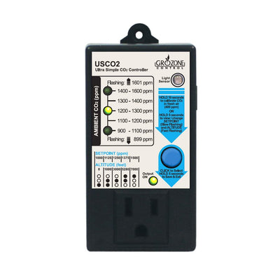 GroZone USCO2 Ultra Simple CO2 Controller 0-1600PPM