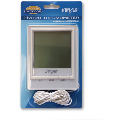 Active Air In / Out Digital Thermometer w / Hygrometer