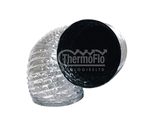 "Ducting 4"" 1100 S Black Core - Thermoflo"