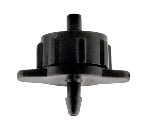 Hydro Flow Regulated Push-In Button Drip Emitter Black 1 GPH