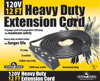 Extension Cord, 120v, 12ft