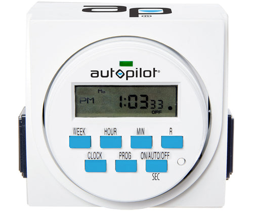 7 Day Dual Outlet Digital Timer - Autopilot