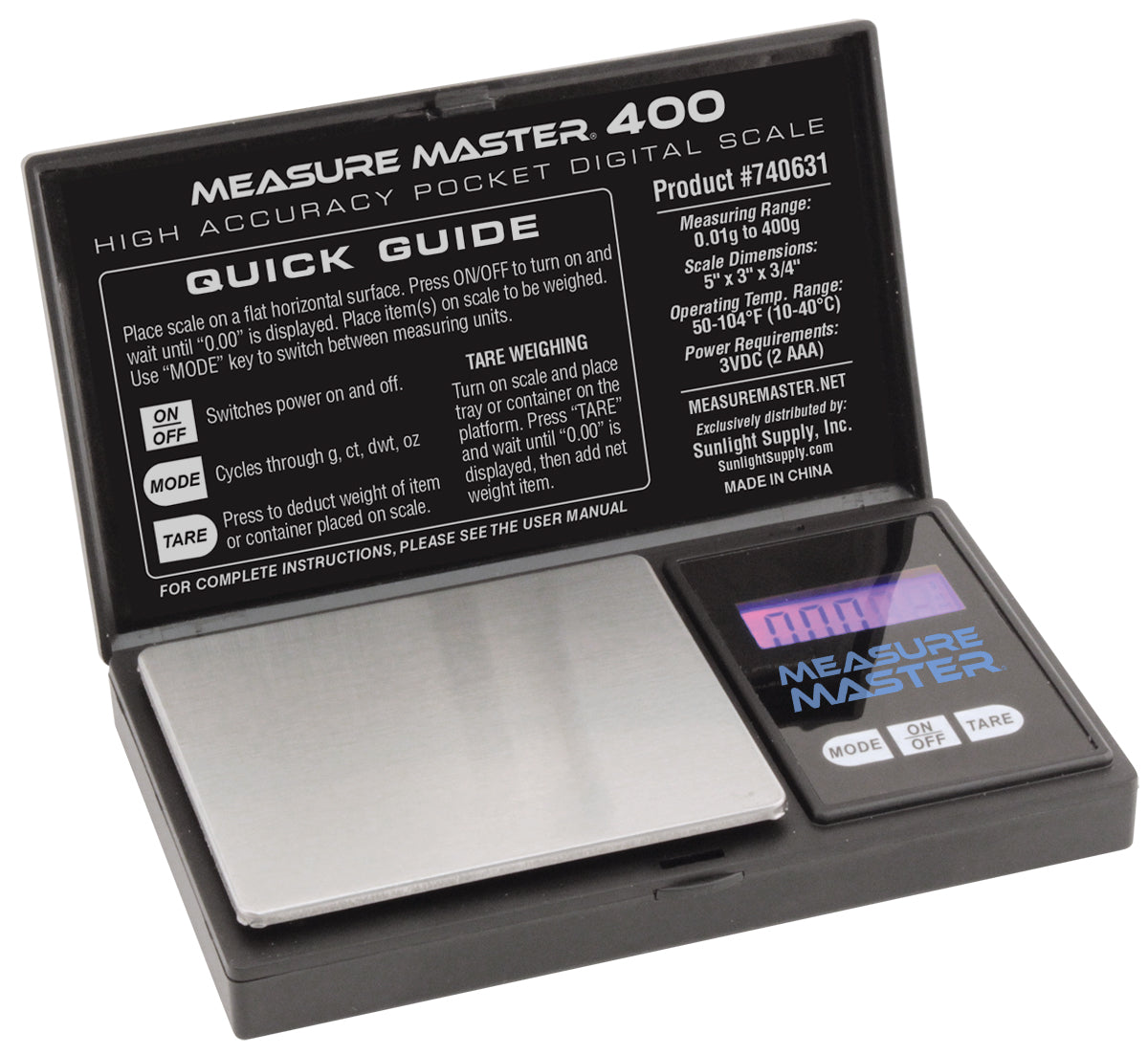 Measure Master - 400g Digital Pocket Scale - 0.01g Accuracy