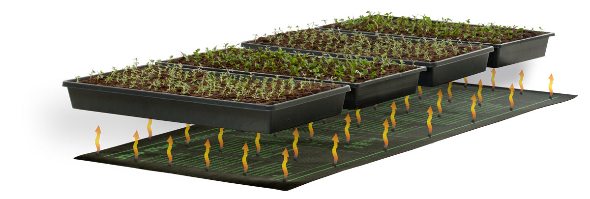 "Jump Start Seedling Heat Mat, 48"" x 20"", 107W"