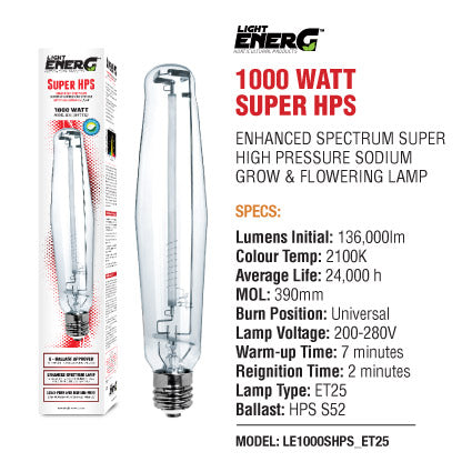 Light Energ - 1000 Watt Super HPS