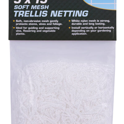 "Soft Mesh Trellis Netting 5x15 (6"") - Grower's Edge"
